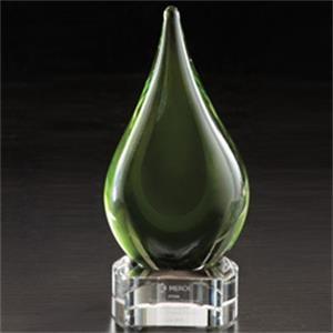 Fusion Art Glass Award w/ Clear Base