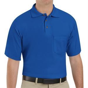Short Sleeve Blended Soft Knit Shirt With Pocket (Regular)