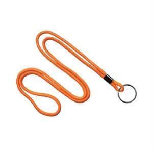 Orange Blank Round Lanyard with Black Split Ring