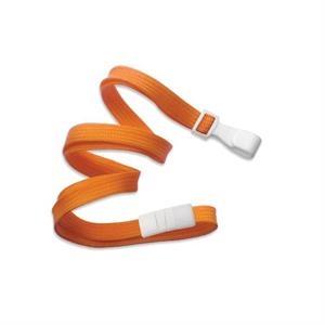 Orange Flat Blank Lanyard breakaway/wide plastic hook