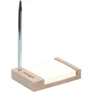 Note pad holder with pen set