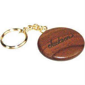 Round Wooden Keychain-Rosewood