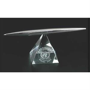 Pen Stand Optical Crystal Rainbow Pyramid