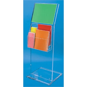 Clear Acrylic Floor Sign and Literature Holder