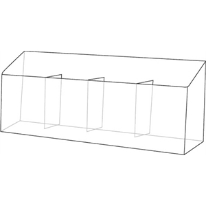 4-Pocket Clear Acrylic Brochure Holder for Wall