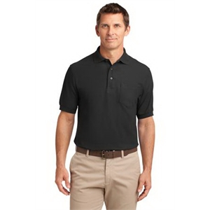 Port Authority Silk Touch Polo with Pocket.