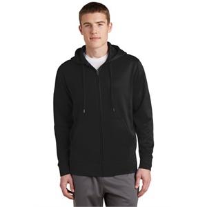 Sport-Tek Sport-Wick Fleece Full-Zip Hooded Jacket.