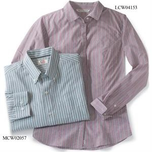 CB Long Sleeved Epic Easy Care Big & Tall Multi-Stripe Shirt
