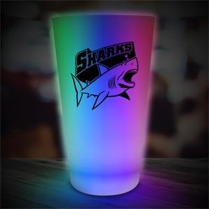 16 oz. Pint Glass w/ Neon-Look Multi-Color LED Lights