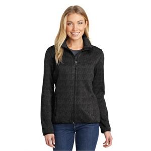 Port Authority Ladies Sweater Fleece Jacket.