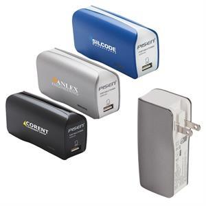 5,000mAh Mobile Power Bank with Wall Plug