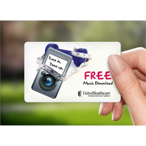 Music Download Wellness Promotion Card