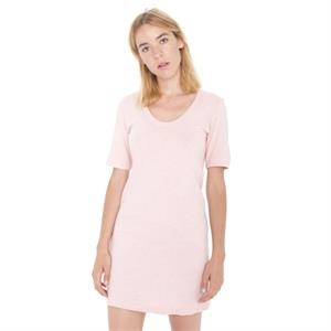 Fine Jersey Short Sleeve Crew Neck T-Shirt Dress