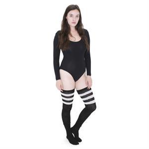 Stripe Thigh-High Sock