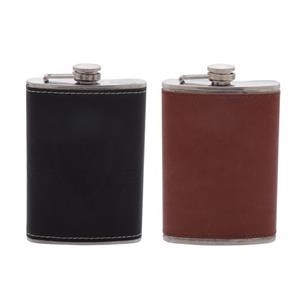 Leather 8oz Flask