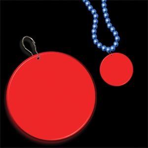 """Red 2 1/2\"""" Medallion Badge"""