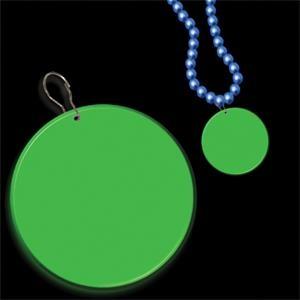 """Green 2 1/2\"""" Medallion Badge"""
