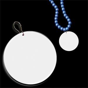 """White 2 1/2\"""" Medallion Badge"""
