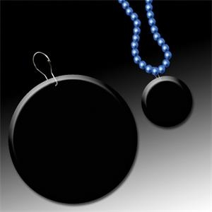 "Black 2 1/2\"" Medallion Badge"