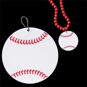"""Baseball 2 1/2\"""" Plastic badge Medallion"""