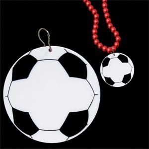 """Soccer 2 1/2\"""" Plastic badge Medallion"""