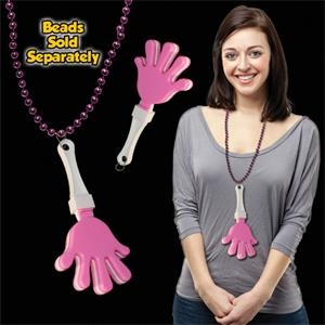 Pink & White Hand Clapper with attached j-hook