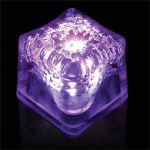 Purple Light Up Premium LitedIce Brand Ice Cube, Blank