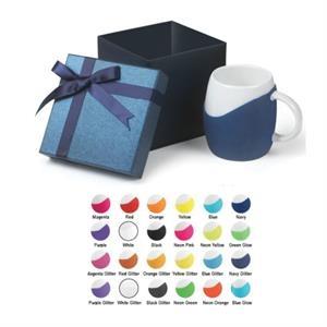 14 oz Rotunda Ceramic Mug With Silicone Grip Gift Set