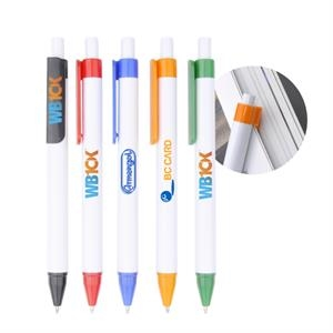 Plastic Pen w/ Business Card Holder