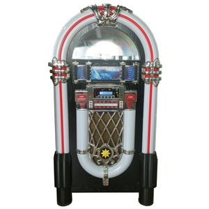 A full size retro looking jukebox with modern technology