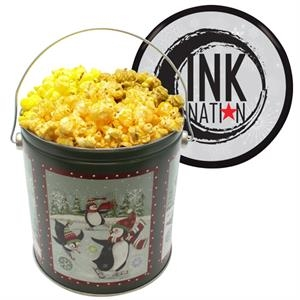 One Gallon Popcorn Tin With Butter, Cheese, Caramel Popcorn