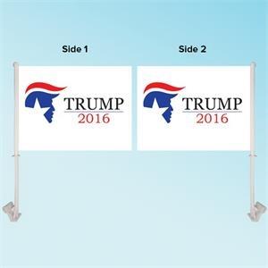 """11.5\"""" x 15\"""" Custom Car Flag - Double Sided"""