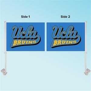 """11.5\"""" x 15\""""  Custom Graphics Car Flag - Double Sided"""