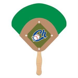 Baseball Diamond Shaped Fan - Eco Friendly