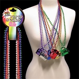 "Toy Beer Mug 33"" Metallic Mardi Gras Beads"