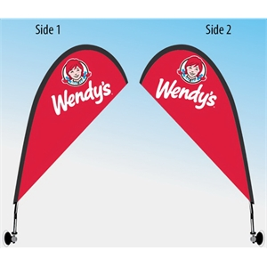 Suction Cup Teardrop Window Flag - Double Sided