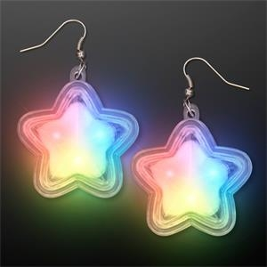 Flashing Twinkle Star LED Pierced Earrings