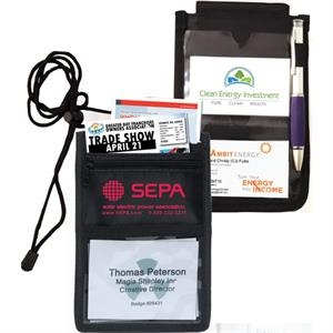 8 Function Tradeshow Bagdeholder, Neck Wallet & Travel Pack