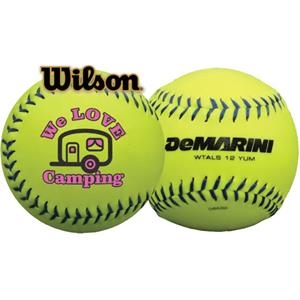 Wilson (R) Official Synthetic Optic Yellow Softball