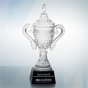 """Optical Crystal Trophy Cup 15""""H (M) - On Sale Item"""