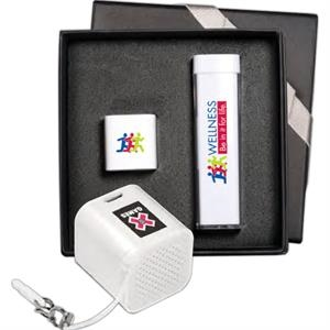 Micro-Boom Speaker & Econo Mobile Charger Gift Set