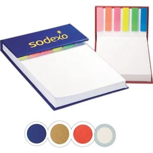 Hard Cover Sticky Flag Jotter Pad