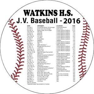 """5.5\"""" Circle Baseball Magnet"""