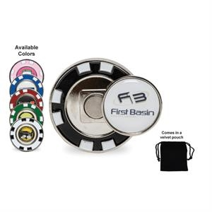Metal Poker Chip with Magnetic Ball Markers