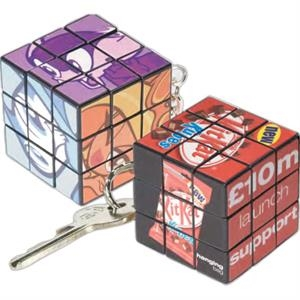 Custom Micro Rubik's (R) Cube Key Ring