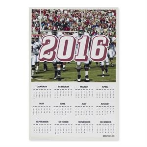 "Sports Calendar 6"" x 9\""Removable Adhesive Vinyl Decal"