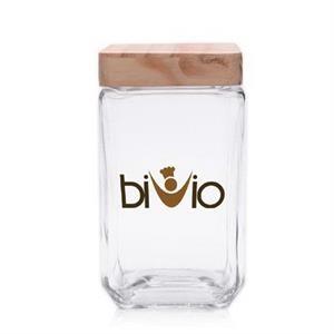 54 oz. Glass Candy Jars w/ Wooden Lids