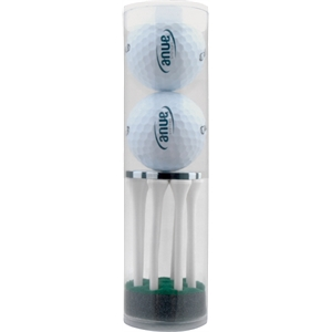 2-Ball & Tee Tube with Poker Chip Ball Marker