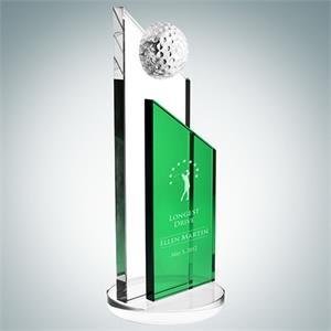 Green Success Golf Trophy - Large