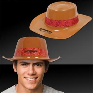 Brown Plastic Cowboy Hat
